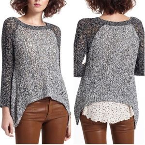 Anthropologie LeifNotes Dipped Lace Marlee Sweater